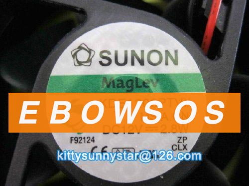 Free shipping SUNON 6025 KDE1206PTVX 12V 2.8W 2Wire Maglev Fan,Cooling Fan - ebowsos