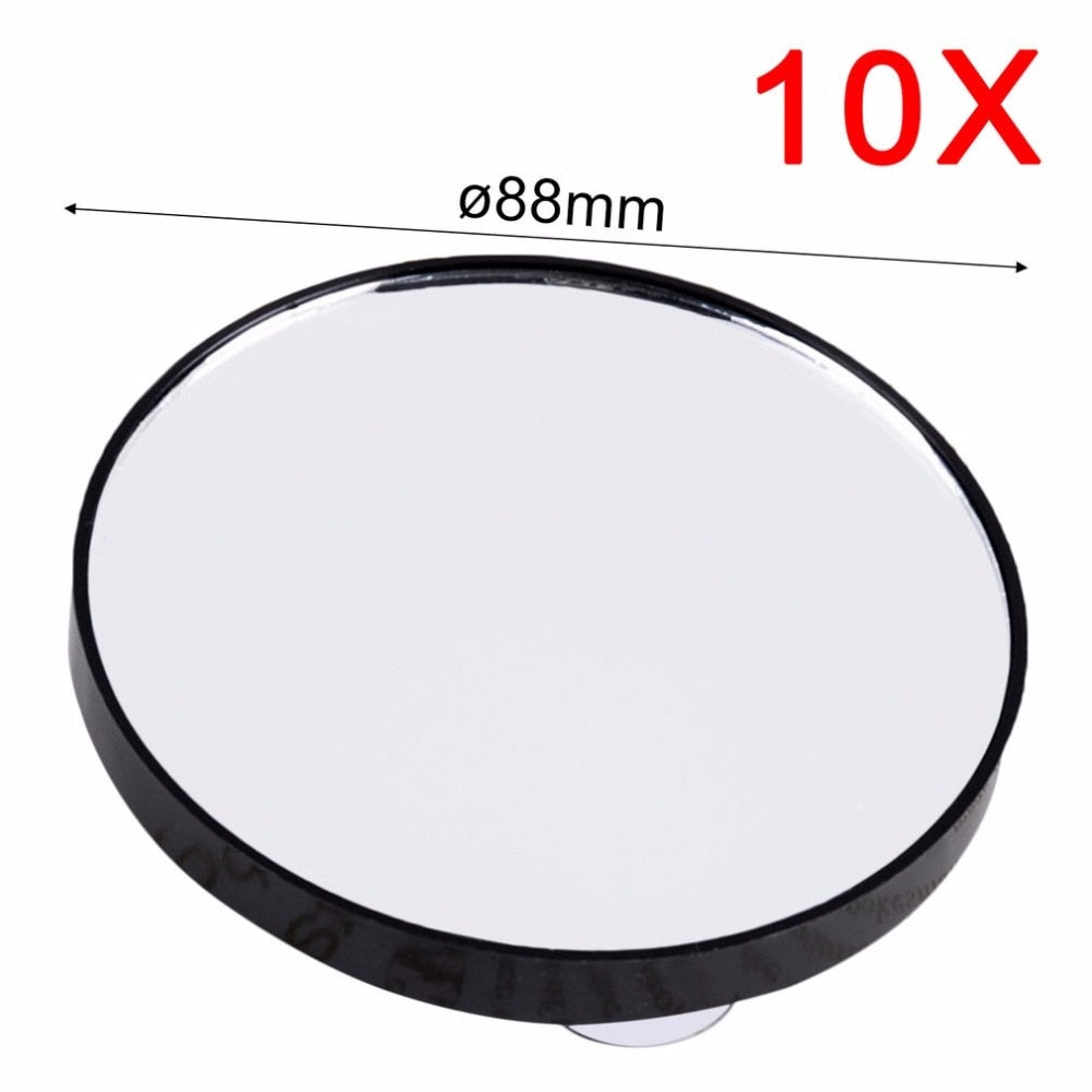 2018 Vanity Makeup Mirror 5X 10X 15X Magnifying Mirror With Two Suction Cups Cosmetics Tools Mini Pocket Portable Round Mirror - ebowsos