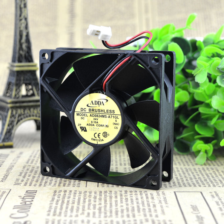 For original ADDA Taiwan Xiexi 8025 DC24V 0.10A ultra-quiet cooling fan AD0824MS-A71GL - ebowsos