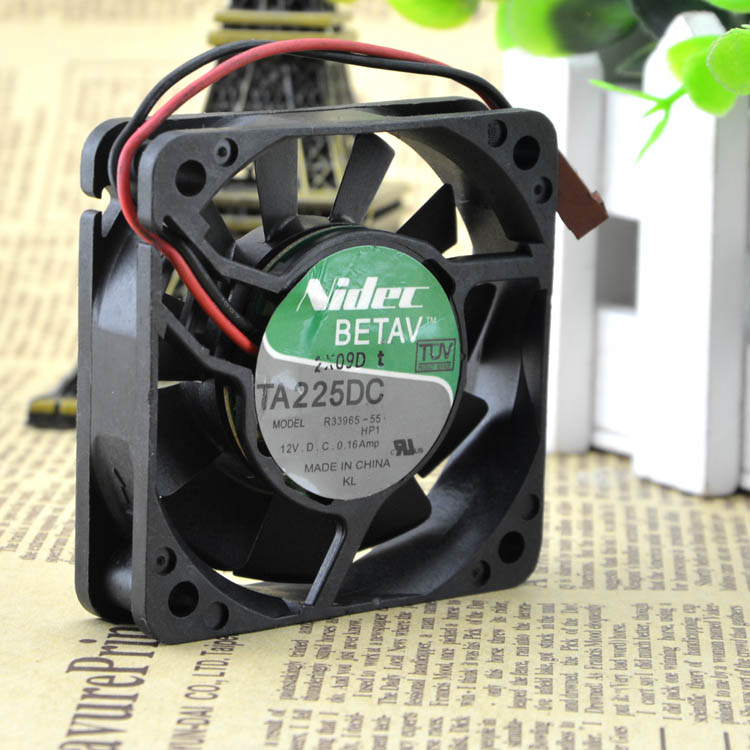 For original Nidec 6CM 6015 12V 0.16A R33965-55 double ball 6CM fan - ebowsos