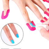 26PCS/pack Professional French Manicure Nail Art Stickers Tips Finger Cover Nail Polish Protector Mold for Gel Varnish Coat - ebowsos
