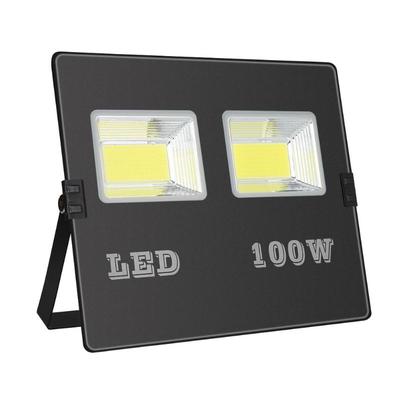 288 COB LED Floodlight 220V 100W Waterproof Advertising Outdoor Flood Light - ebowsos