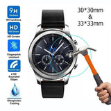 2Pcs/set Transparent Tempered Glass Screen Protector Films for Samsung Galaxy Watch 42mm/46mm Screen Protector Protective New - ebowsos
