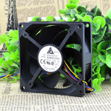 For 8025 12V 0.32A AUB0812HH 4-wire temperature control 8CM chassis cooling device fan - ebowsos