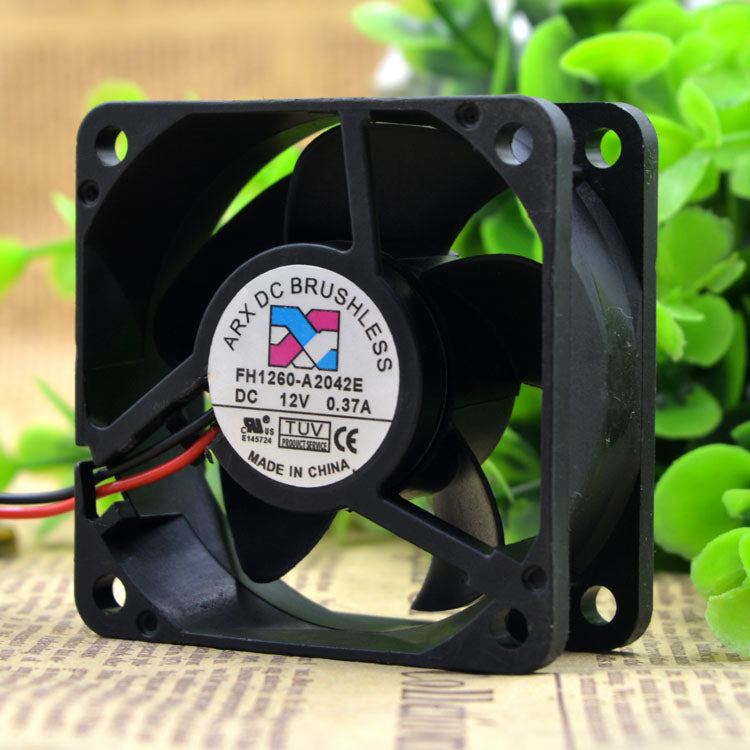 For Taiwan Threesmiths ARX FH1260-A2042E 12V 0.37A 6CM 6025 2-wire cooling fan - ebowsos