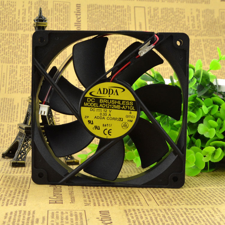 For Taiwan Xiexi ADDA 1225 12V 0.33A AD1212MB-A71GL chassis power supply fan - ebowsos