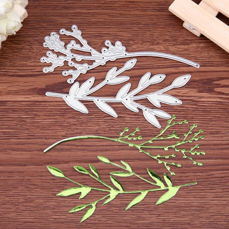 2pcs Branches DIY Metal Cutting Dies Scrapbooking Album Photo Decorative Embossing Crafts Paper Cards Envelope Invitation Decor - ebowsos