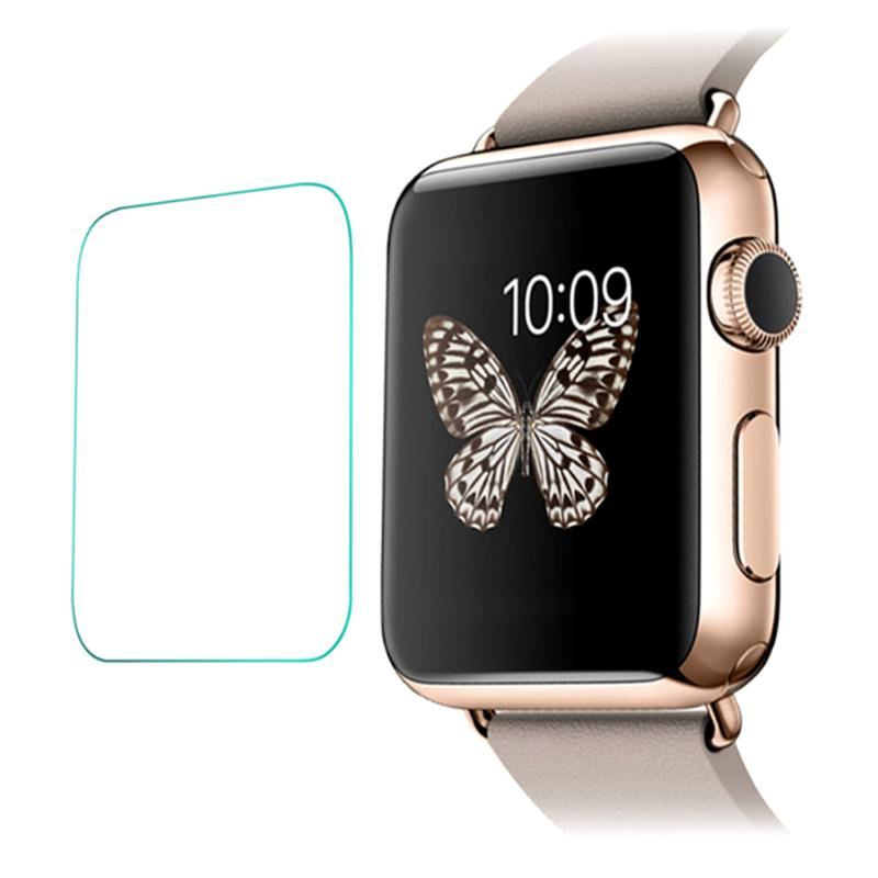 2pcs/set Transparent Tempered Glass Film Screen Protector Watch Screen Protection Film  for Apple Watch iWatch (38/42mm) New - ebowsos