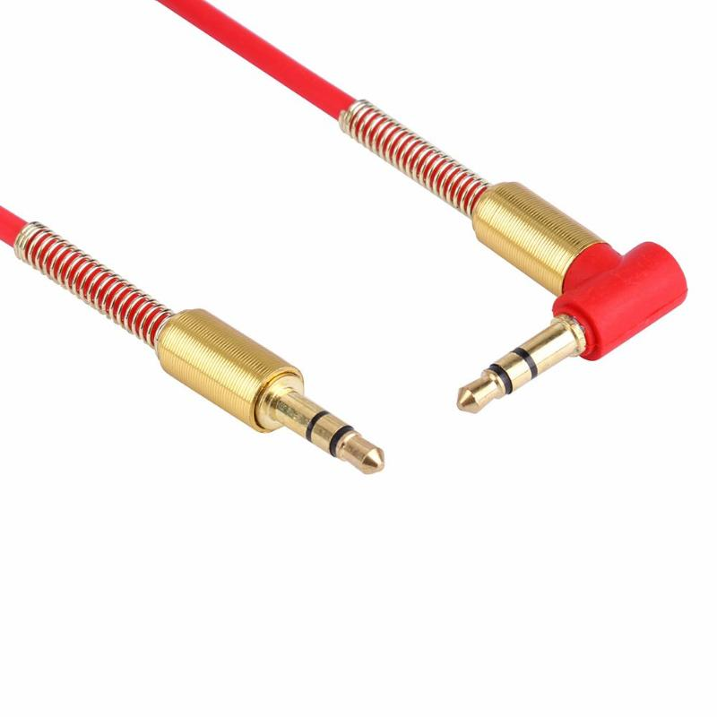 New 3.3FT 3.5mm Jack Audio Cable Male To Male 90 Degree Right Angle Aux Cable US