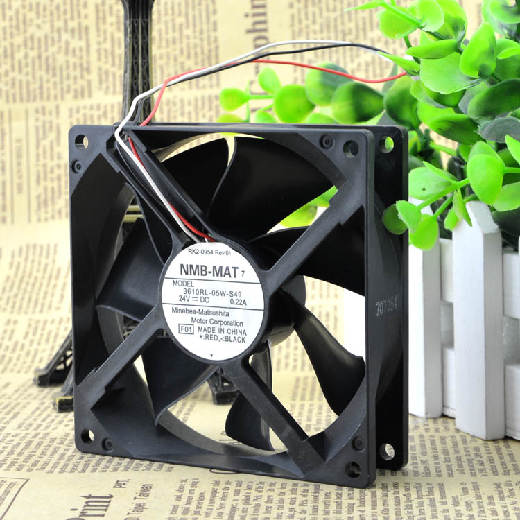 For new NMB 3610RL-05W-S49 24V 0.22A 9025 9cm chassis inverter cooling fan - ebowsos
