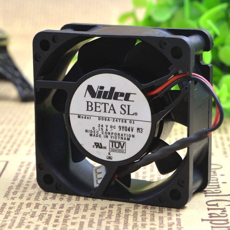 For D06A-24TS8 01 Original Japanese Nidec 24VDC 0.15A 60*60*25MM Inverter Fan - ebowsos