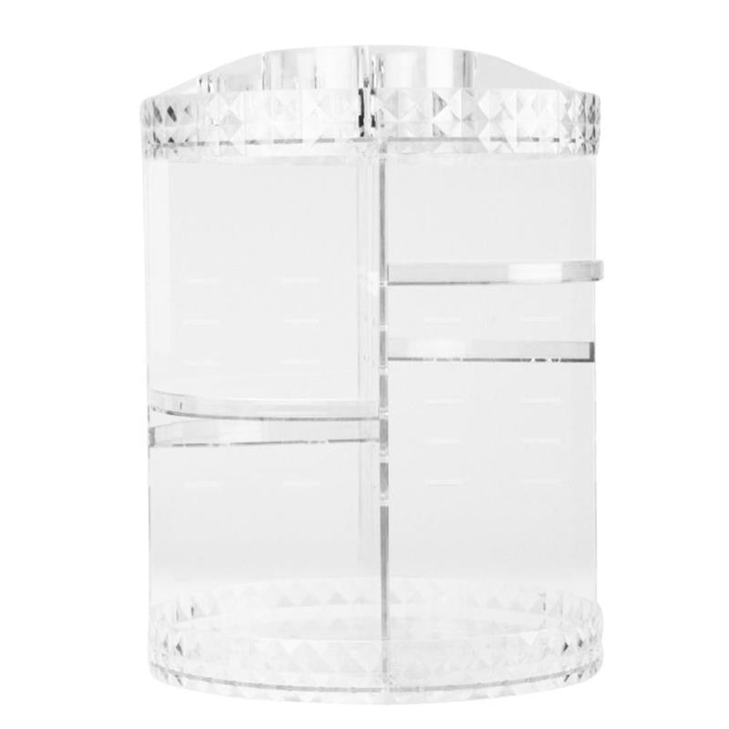 360 Rotary Acrylic Clear Organizer Creative and Unique Admission Projects Delicate Makeup Display Holder Jewelry Storage Box - ebowsos