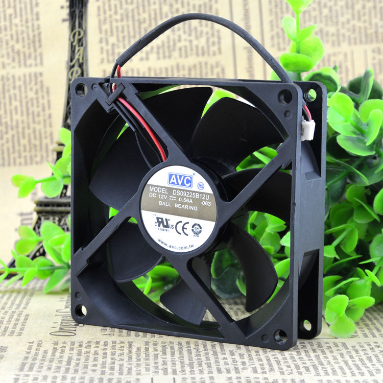 For AVC 9025 12V 0.56A 9CM/cm 4-wire Large air volume Chassis fan DS09225B12U - ebowsos