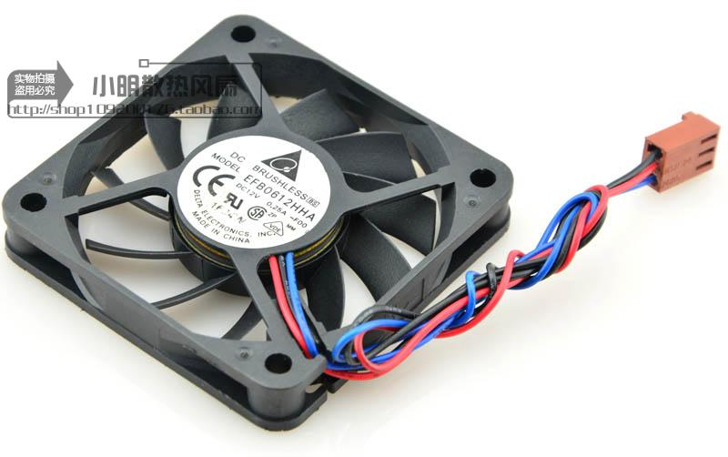 For Delta 6010 6cm Double Ball 12V0.25A Large Air Volume Fan Speed ??Edition EFB0612HHA - ebowsos