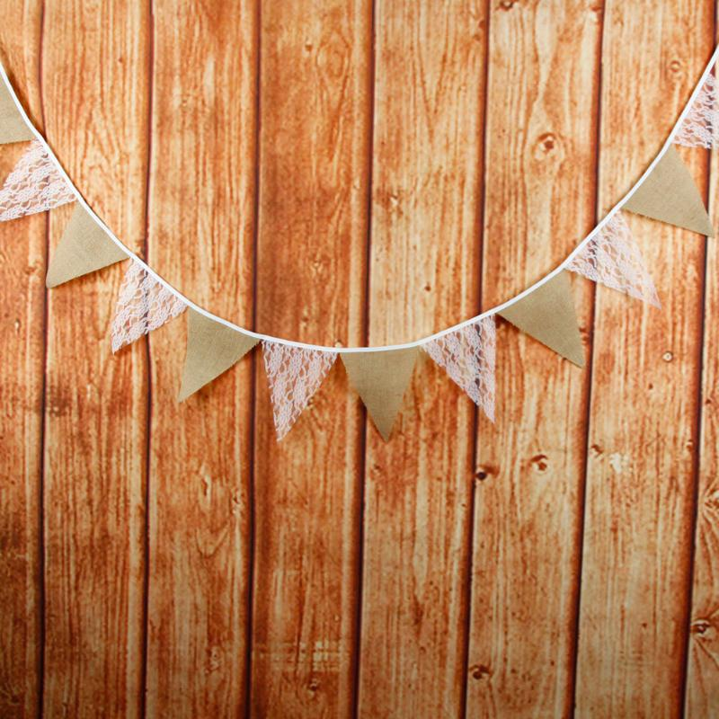 3m 12 Flags Rose Lace Pennant Bunting Banner Vintage Party Wedding Decor - ebowsos
