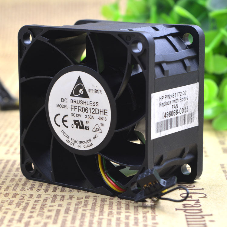 For Delta 6038 12V 3.3A 6CM/cm Violence Large air volume server fan FFR0612DHE - ebowsos