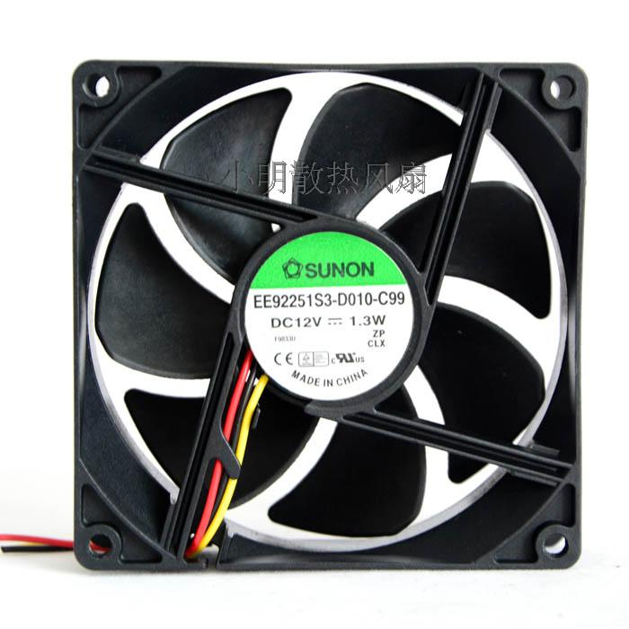 For brand new original authentic Jianzhan 9225 DC12V 1.3w EE92251S3-D010-C99 cooling fan - ebowsos