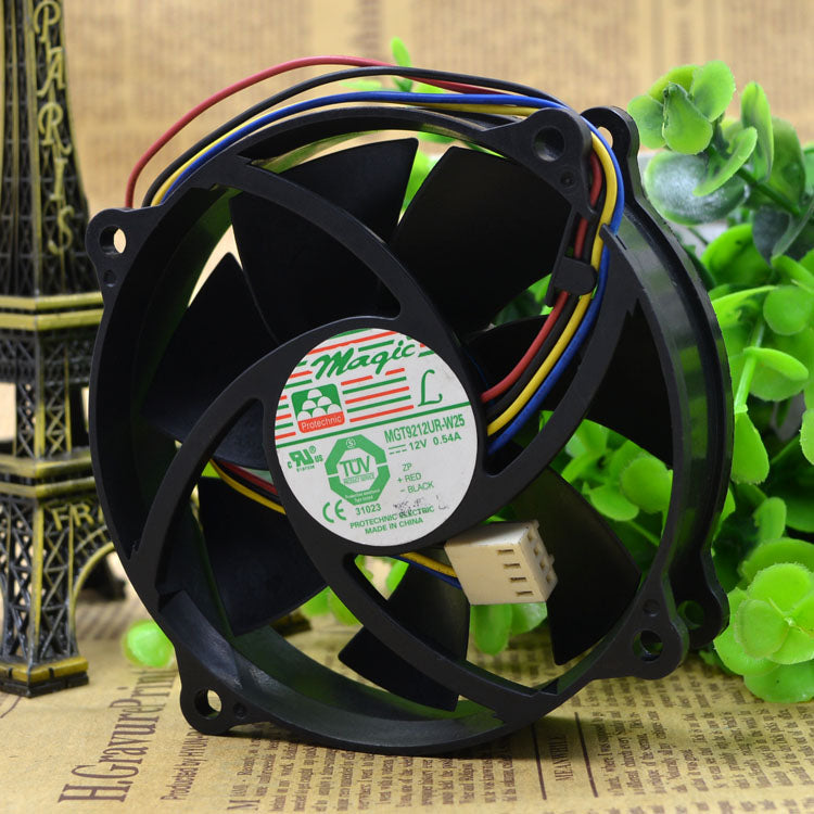 For MIGIC 9025 Yongli MGT9212UR-W25 12V 0.54A Four-wire cooling fan 9 cm - ebowsos