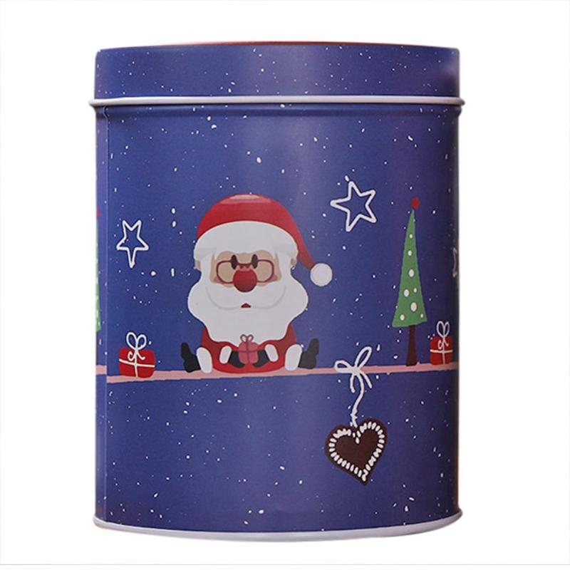 4pcs Christmas Candy Cans Wear Resistance and Durability High-capacity Santa Claus Snowman Elk Iron Storage Box Kids Gifts - ebowsos
