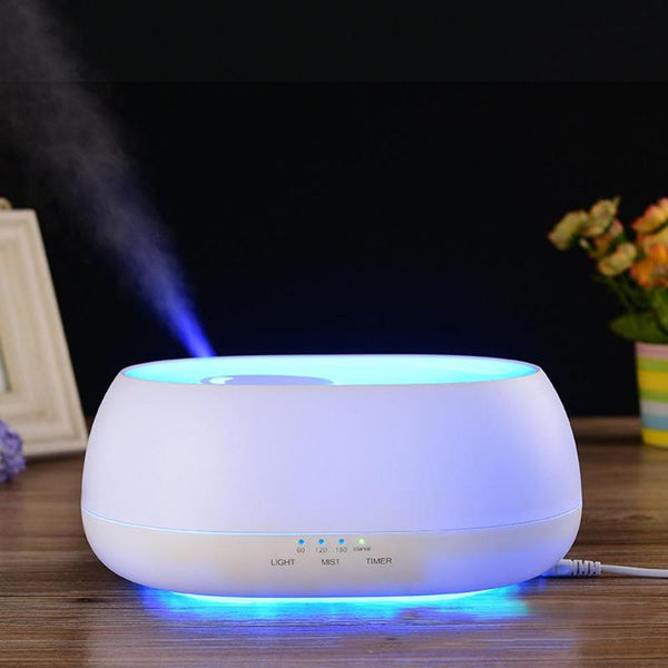 500ML Ocean Mist Air Humidifier Remote Control Humidifier Wood ...