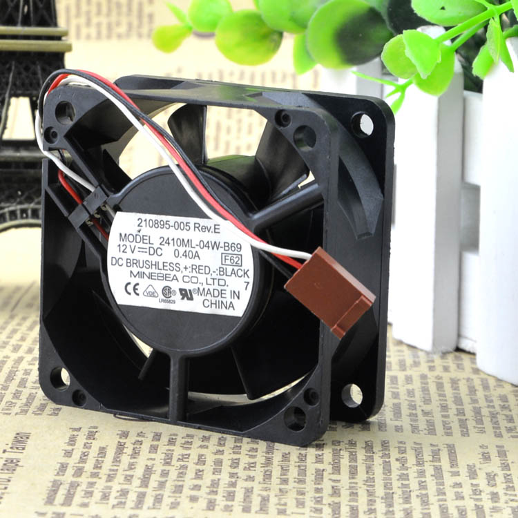 For 6025 original NMB 2410ML-04W-B69 12V 0.40A three-wire industrial computer cooling fan - ebowsos