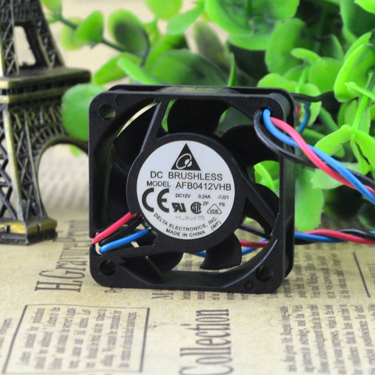 For Delta 4015 12V 0.24A 4CM/cm Large air volume Double ball chassis fan AFB0412VHB - ebowsos