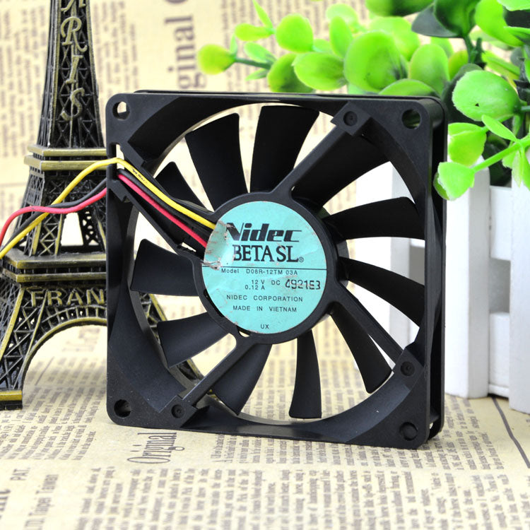 For original Nidec 8015 D08R-12TM 03A 12V 0.12A 3-wire CPU ultra-quiet cooling fan - ebowsos