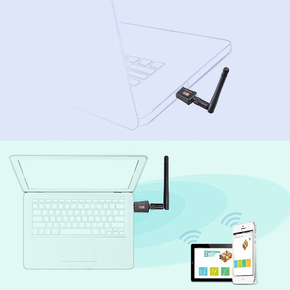 5GHz USB Wifi Adapter 600Mbps Wireless Lan USB PC Wifi Antenna Support Window Linx2.6X Mac OS 802.11AC USB Network Card - ebowsos