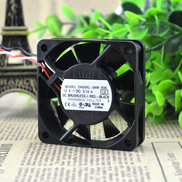 For NMB 2406KL-04W-B36 Cooling Fan 6CM6015 12V/0.14A Inverter Fan - ebowsos