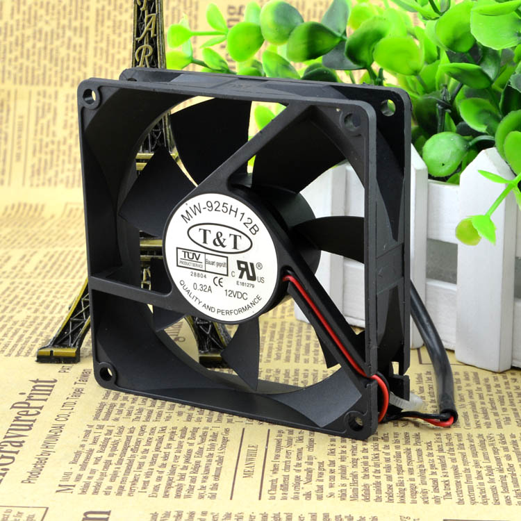 For X316 TT original authentic MW-925H12B 9CM cooling fan 12V0.32A 9025 chassis fan - ebowsos