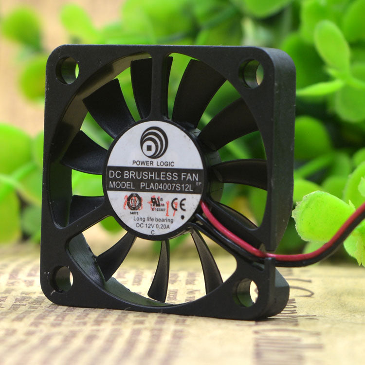 For Power POWER LOGIC 4CM PLA04007S12L 4007 12V 0.20A Cooling Fan - ebowsos
