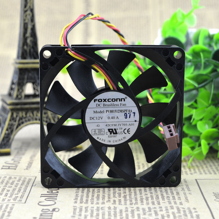 For Dell Vostro 200S 220S 530S 531S chassis fan JY705 PV801512MSPF 0A - ebowsos