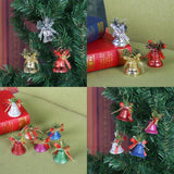6pcs/set Christmas Bell Hanging Ornaments Pendant Accessories Home Decor - ebowsos