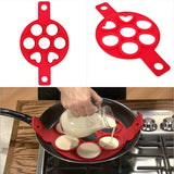7 Holes Silicone Mold Pancake Maker Nonstick Egg Ring Maker Kitchen Accessories Snack Cake Mold Cooking Baking Tools - ebowsos
