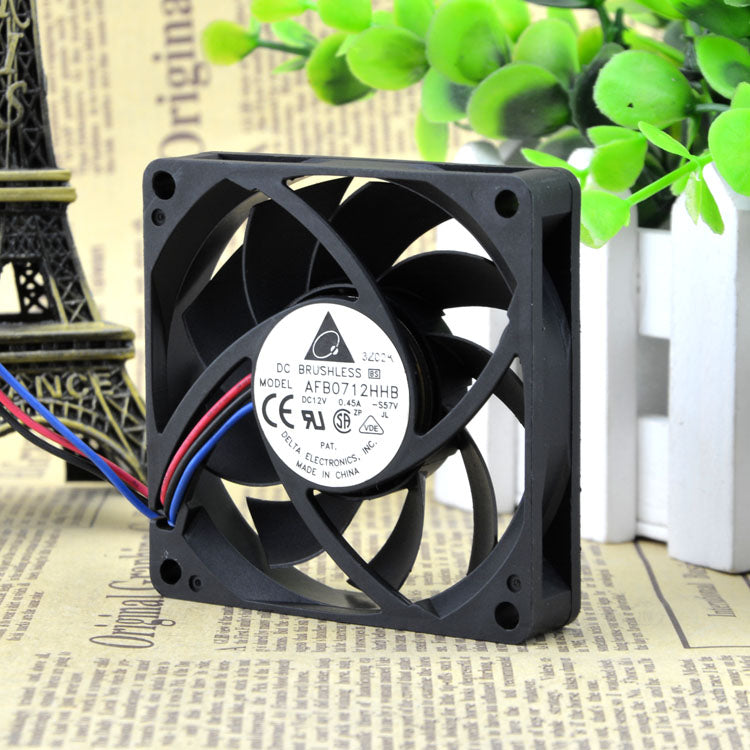 For Delta 12V 0.45A AFB0712HHB-F00 7cm 7CM 7015 Three-line cooling fan - ebowsos