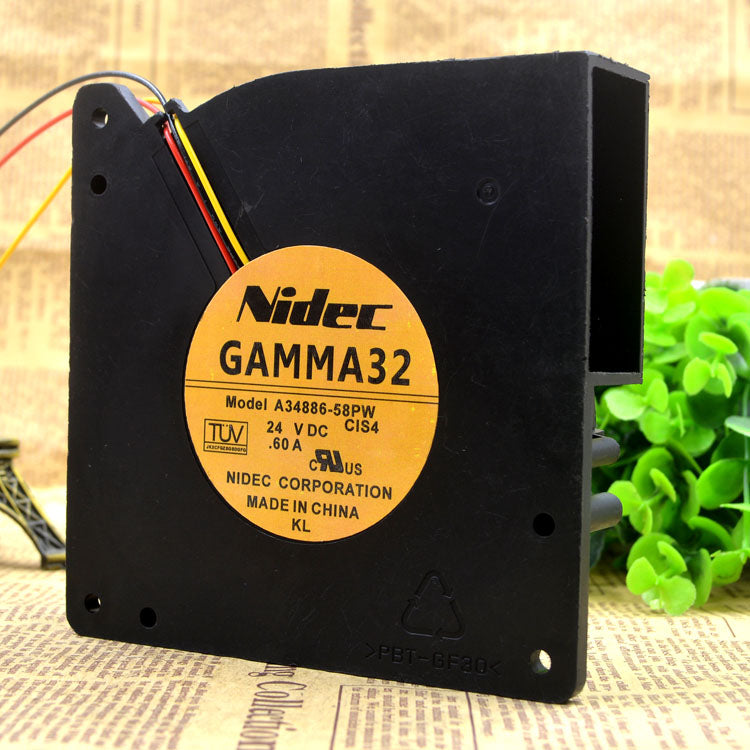 For Nidec GAMMA32 12032 A34886-58PW DC 24V 0.60A Blower Cooling Fan - ebowsos