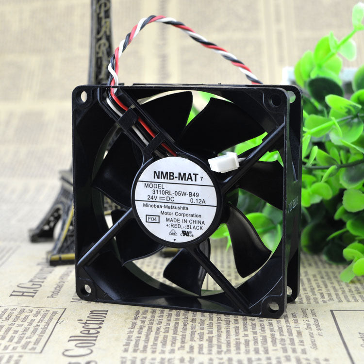 For original authentic NMB 8cm8025 24V 0.12A 3110RL-05W-B49 inverter fan three line - ebowsos