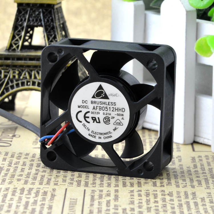For Delta DELTA 5020 5cm Double Ball 12V0.21A with Speed ??CPU Fan AFB0512HHD - ebowsos