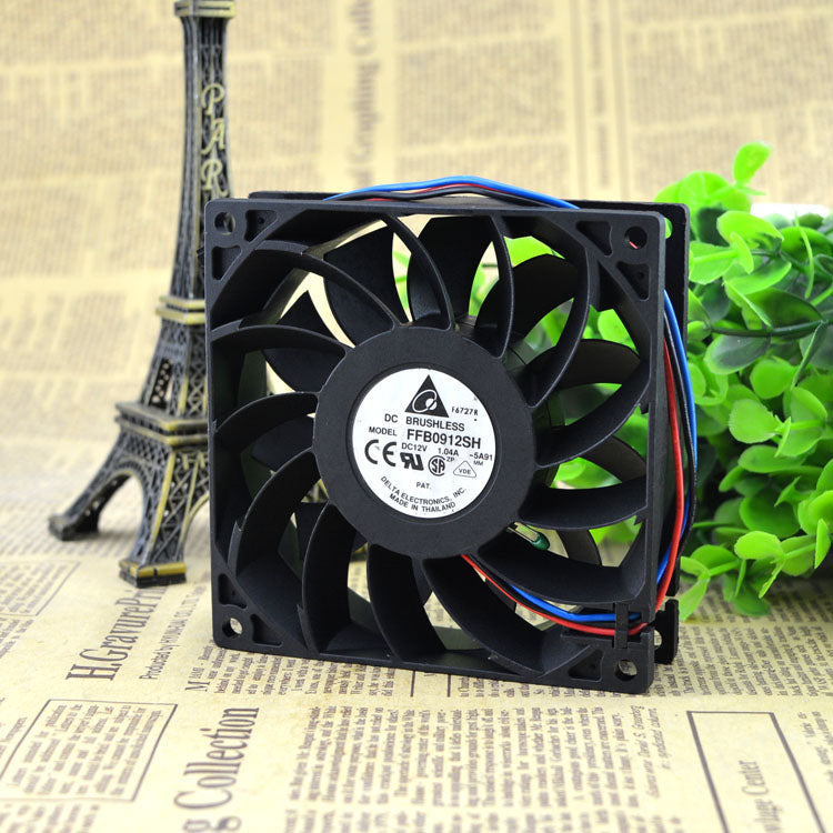 For Delta 9025 12V 1.04A 9CM Violent Air Volume Server Chassis Fan FFB0912SH - ebowsos