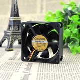 For Taiwan Jianzhun GM1206PTBX-A 12V1.6W 6CM 6025 ultra-quiet power supply chassis cooling fan - ebowsos