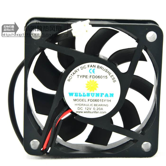 For New ROTARY FD06015Y1H 12V 0.20A 6CM Power CPU Radiator Small Fan - ebowsos