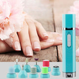 9 In 1 Multifunctional Portable Electric Nail Tips Grinding Manicure Machine Manicure Tools Electric Shavers Hair Remover nails - ebowsos