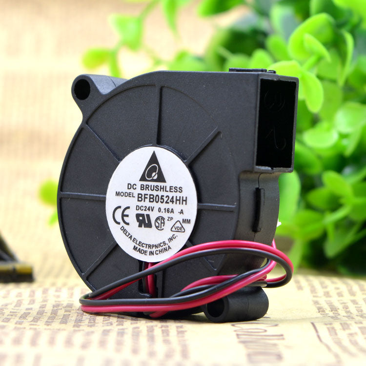 For Delta 5015 24V 0.16A 5CM Turbo Centrifugal Blower Cooling Fan BFB0524HH - ebowsos