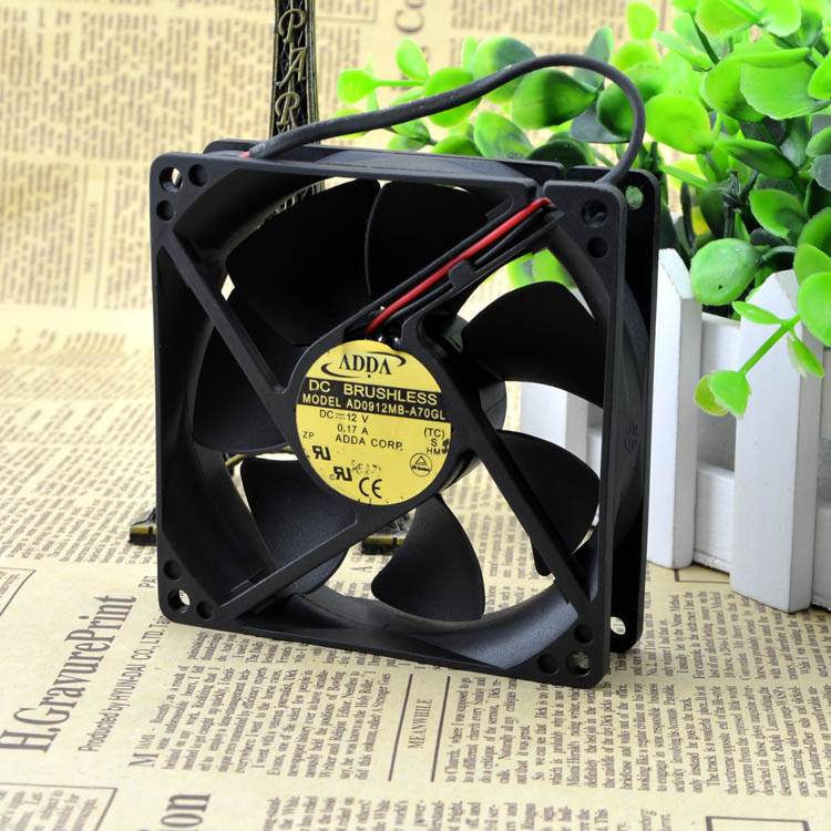 For original Taiwan Association ADDA AD0912MB-A70GL 9225 12V 0.17A silent chassis fan - ebowsos