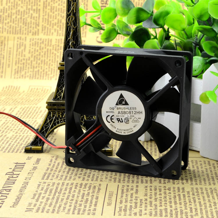 For genuine Delta ASB0812HH 8025 8CM 12V0.30A high quality ultra-quiet chassis cooling fan - ebowsos