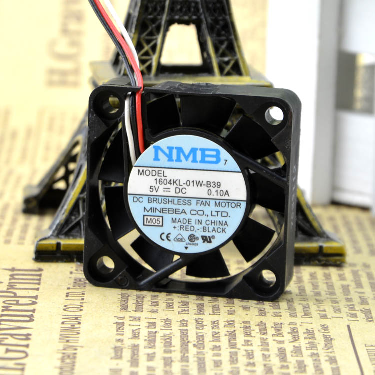For 4010 original NMB cooling fan 1604KL-01W-B39 5V 0.10A three-wire with speed - ebowsos
