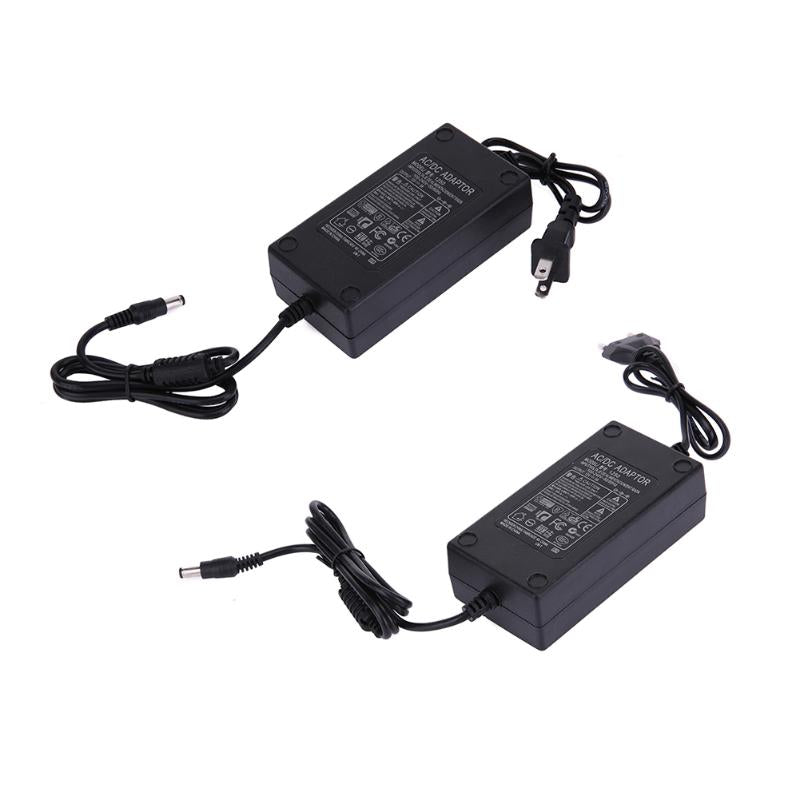 AC 100V-240V to DC 12V 5A Power Supply Adapter , AC to DC Power Adapter  Dual Cable Charger Converter 5 5x2 1-2 5mm for LCD TV