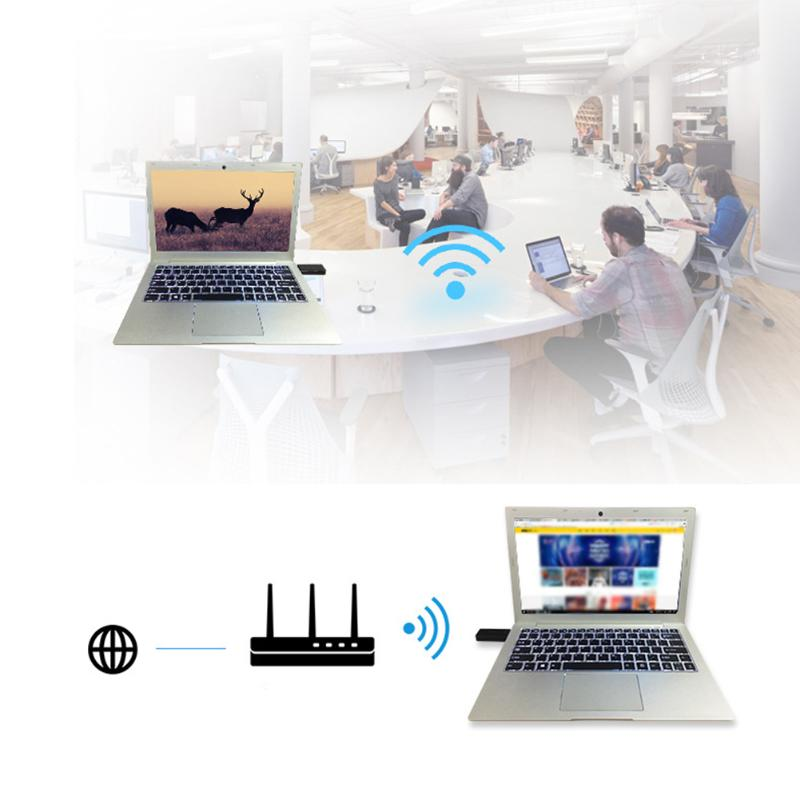 High Quality Network Card 1200Mbps Dual Band Bluetooth Wireless Adapter USB WiFi Dongle Network Card - ebowsos