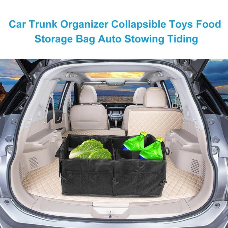 Car Trunk Organizer Multi-pocket Food Storage Bag Cargo Container Collapsible Toys Auto Stowing Tiding Stowing Tidying Interior Accessories