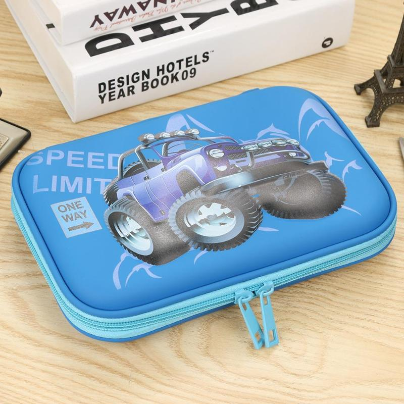 Cartoon Car Home Tool Storage Bags Large Capacity Pencil Bags Case Portable Pen Brushes Pouch Box Gifts Home Supplies Newest - ebowsos